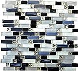 Mosaik Fliese Transluzent weiß grau schwarz Verbund Glasmosaik Crystal EP weiß grau schwarz für WAND BAD WC DUSCHE KÜCHE FLIESENSPIEGEL THEKENVERKLEIDUNG BADEWANNENVERKLEIDUNG Mosaikmatte Mosaikplatte