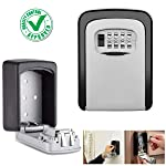 DOCOSS - Metal Key Safe Combination Storage Box Outdoor Wall Mounted with Code Password Security Lock for House Outdoor