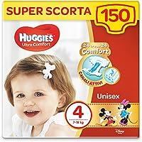 Huggies Pannolini Ultra Comfort, Taglia 4 (7-18 Kg), Confezione da 150 Pannolini