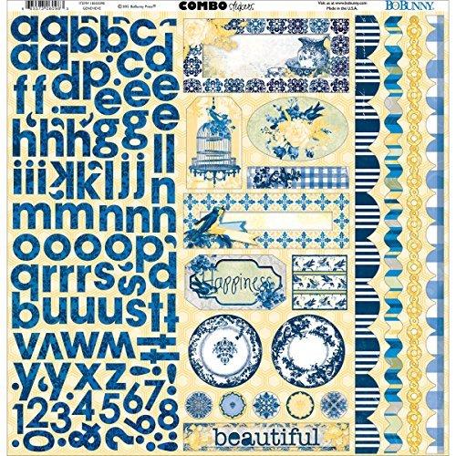 Bo Bunny 18503098 Genevieve Combo Stickers - 12 x 12 in. by Bo Bunny