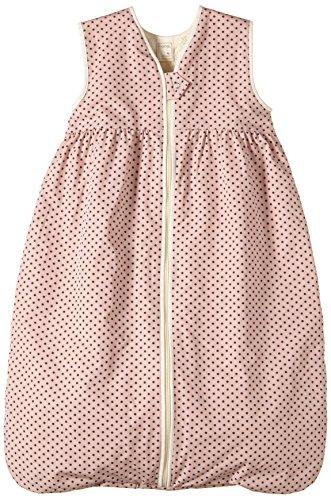Lana Natural Wear Baby - Mädchen Schlafsack Plüsch Punkte, Gepunktet, Gr. 120, Rosa (Punkte Rose Water-Ombre Blue 9306)