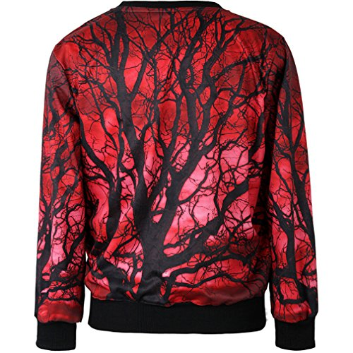 THENICE Women'Pullover Sweatershirts Digital Print - Leaves trunk