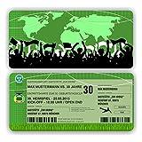 Einladungskarte Geburtstag Fussball Ticket Eintrittskarte mit Perforation (40 Stück)