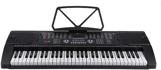 61 Tasten Lern-Keyboard Elektronisches Tragbares Keyboard Aufnahme-Funktion Playback-Funktion mit Ständer, Mikrofon und Netzteil