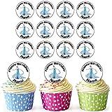 Elsa (Frozen) Disney Princess–30personalizado comestible cupcake toppers/adornos de tarta de cumpleaños–fácil troquelada círculos