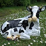 Dekofigur Kuh mit Kalb
