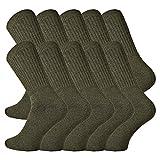 TippTexx24 10 Paar Sport-Army-Jäger-Socken, schöne, sehr robuste und schwere Qualität (43/46)