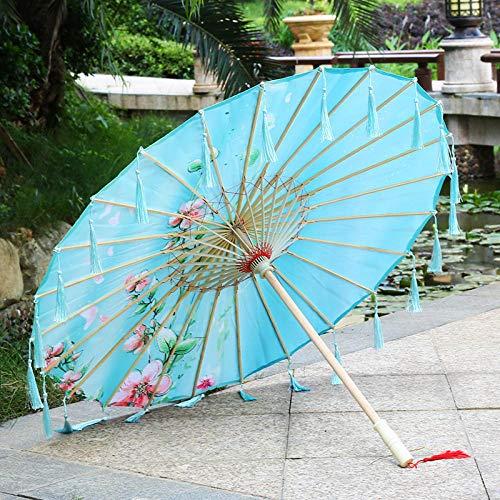 Regenschirme Brautaccessoires Handmade Öl Papier Regenschirm weiblichen Alten Wind Regenschirm Quaste Regenschirm chinesischen Stil klassischen Kostüm Requisiten (Klassischen Weiblichen Kostüm)