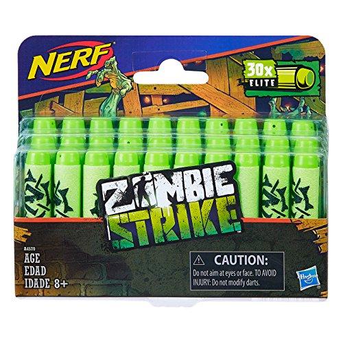 Hasbro Nerf A4570E36 - Zombie Strike 30er Dart Nachfüllpack, Spielzeugblaster (Grüner Pfeil 100)