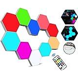 Sechseckige LED Wandleuchten mit Fernbedienung,Intelligente LED Lichtplatten RGB Gaming Lampe Touch-Steuerung Stimmungsbeleuc