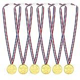 Pllieay 48 Pezzi Winner Medaglie Medaglie Oro Plastica per Bambini Sport Giorno, Premi, Giochi di Partito Giocattoli, Festa, Concorso