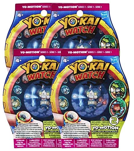 Lot de 4 sachets de 2 médailles Yo-Kai Watch Yo-Motion Saison 2 [Yo-Kai Watch]