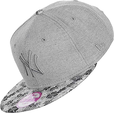 New Era Damen Snapback Cap Canvas Bloom NY Yankees grau grau Verstellbar