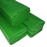 & # x25ba; Big Pack. 9strofinacci Verde in piqué di cotone/cialde/Telo da cucina/panno di pulizia/Straccio/Strofinaccio/Polvere panno/alta qualità/qualità/saugstark & # x25C4;
