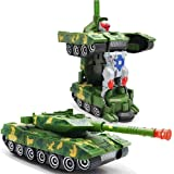 FunBlast Deformation Combat Battle Robot Tank Changeable Robot Toy with Light and Sound Toy | Push and Go Friction…