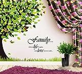 Decals Design 'Tree with Family Quote' Wall Sticker (PVC Vinyl, 60 cm x 90 cm x 1 cm)