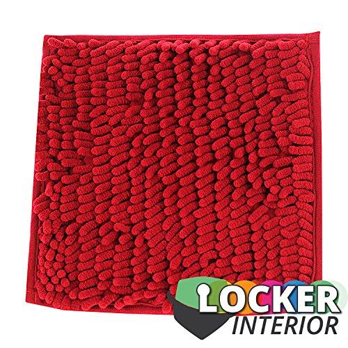 Schule Spind Innenseite 25,4cm, quadratisch Spind Fell Teppich Teppich 10 inch x 10 inch rot