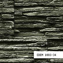 MUESTRA de papel pintado EDEM serie 1003 | Papel pintado relieve aspecto piedra, 1003-XX:S-1003-34