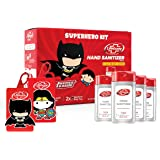 Lifebuoy Super Hero Kit, 70% Alcohol Small Pocket Hand Sanitizer 50 ml (Combo Pack of 4) Liquid Gel - 2 Free Bag Tags Offer (