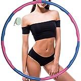 Hoola Hoop voor gewichtsvermindering, instelbaar gewicht, hoelahoep voor volwassenen, fitness, schuimrubber, gevoerd, 88 cm b