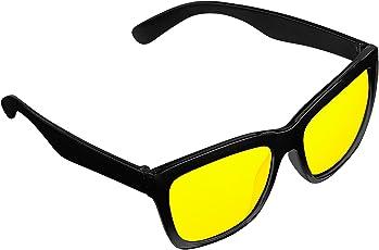PEARL Nachtfahrbrille: Kontrastverstärkende Nachtsicht-Brille Night Vision im Retro-Look (Nachtsichtbrille)