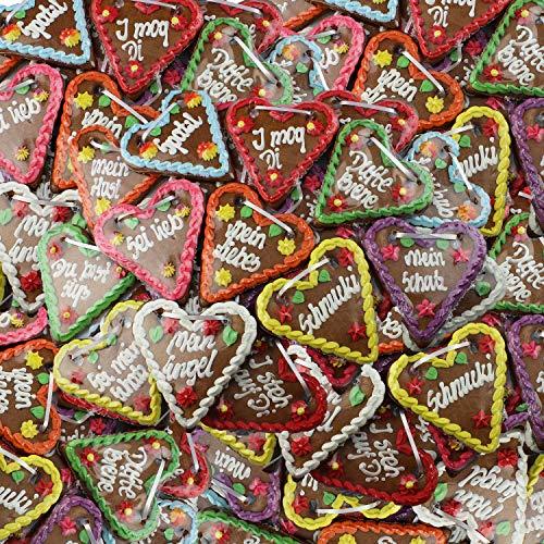 Lebkuchenherzen mit verschiedenen Oktoberfest Sprüchen im Mischkarton - 14cm - 10 Stück - Tolle Mitbringsel für Okotberfest Mottoparty und Geburtstagsfeier - Kleine Gast-Geschenke günstig kaufen