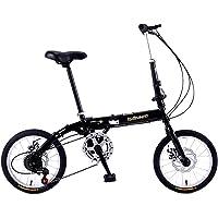 Heizlüfter Mini vélo Pliant 16 Pouces à Vitesse Variable Hommes Femmes Adultes Étudiants Enfants Outdoor Sport Bike