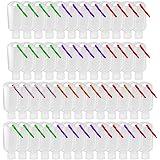 60 Pezzi 50ml Bottiglie da Viaggio Vuota Portatili in Plastica Trasparente Travel Containers con Portachiavi, Flaconi per la