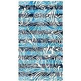 Toalla de playa de terciopelo, 100 x 180 cm algodón puro – diseño Arabesco