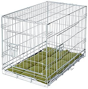 Foldable Dog Crate Cage with Bedding and 2 Rollers - PARENT ASIN