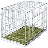 VivaPet Foldable Dog Crate Cage with Bedding, 30-Inch, Silver Galvanized Anti-Rust
