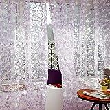 Sannysis 1PC Tratamiento de ventana de tul Voile Drape Valance,color floral, visillo de gasa para decoración del hogar, puertas, ventanas, paño de cortina simple, cenefa...