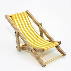 Mini Doll Furniture,Dollhouse Foldable Deckchair Lovely Miniature Lounge Beach Chair for Barbie Dolls by Leoie