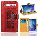 Huawei Honor 7 Handy Tasche, FoneExpert® Wallet Case Flip Cover Hüllen Etui Ledertasche Lederhülle Premium Schutzhülle für Huawei Honor 7 (Pattern 12)