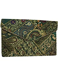 Shubhangi Women's Sling Bag (Jaipuri Embroidered Handicraft Traditional Sling Bags,Multi-Coloured, R32009 B)