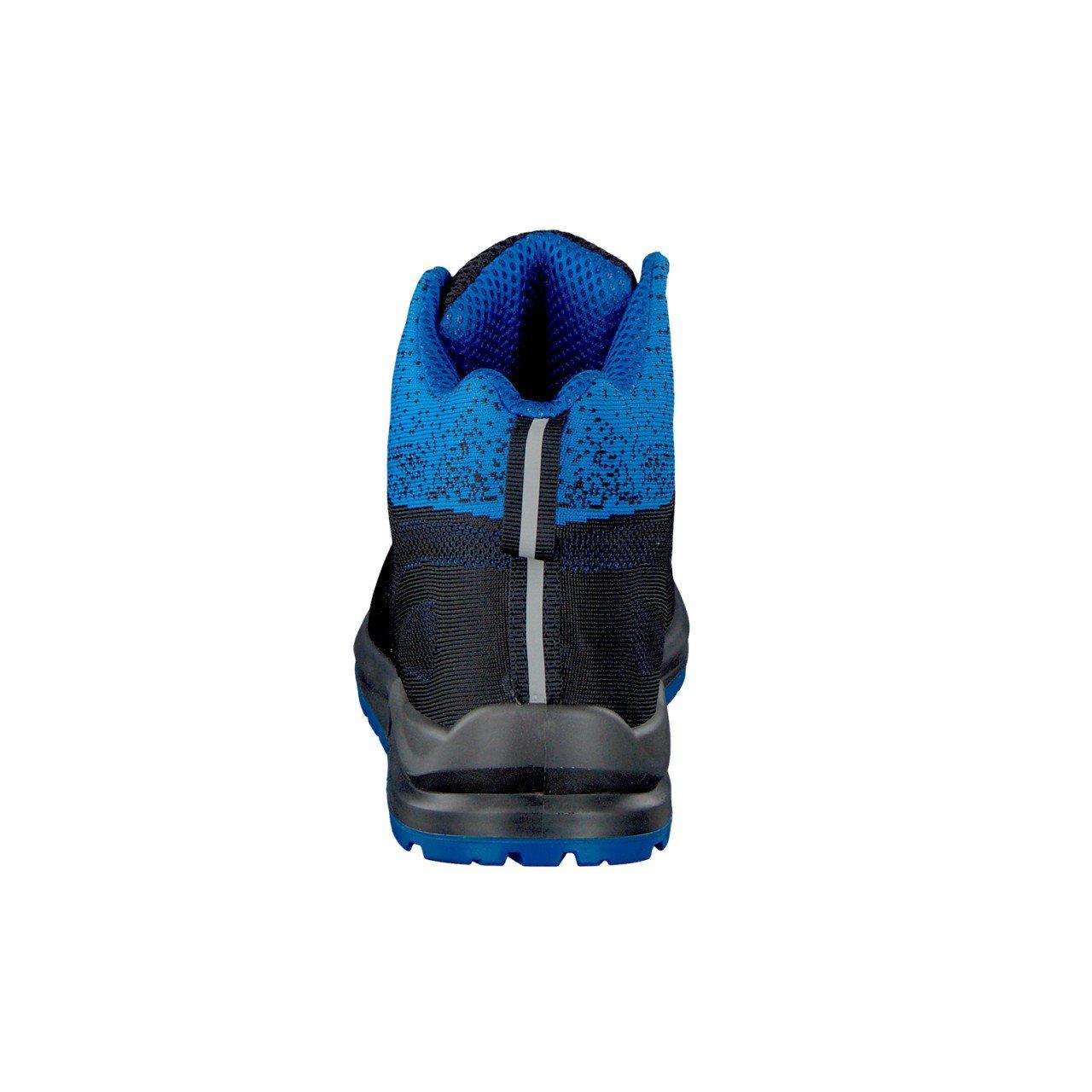 WORK2DO Sportlicher Sicherheitsstiefel Berufsschuhe Arbeitsschuhe S1P, Schwarz/Blau