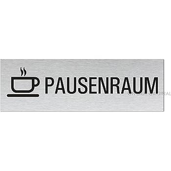T/ürschild I Aluminium l Edelstahl-Optik I Privat l 160x40 mm l Nr.10107-S