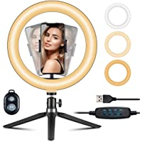 VicTsing 10 'ring light Selfie ring light with tripod Tiktok Light ring light with 3 ...