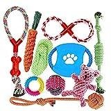 Welpenspielzeug, Hergestellt aus Natürlicher Baumwolle ungiftig und geruchlos Robust Besser für Zahnreinigung Geeignet für kleine Und Mittlere Hunde Hundespielzeug set...