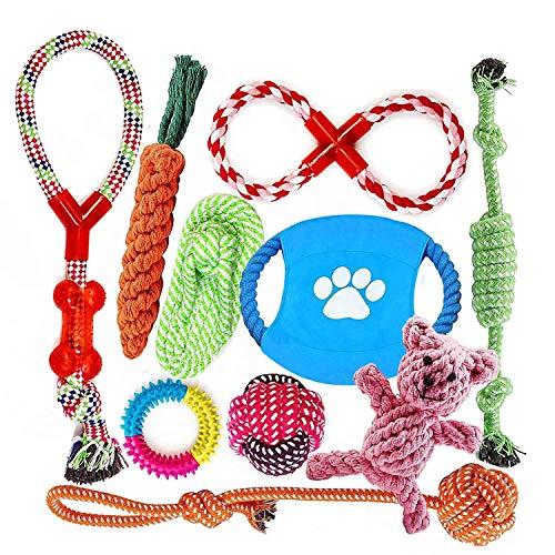 Angelland Grupo de Juguetes para Perros Durable Masticable Cuerda Soledad Grupo de...