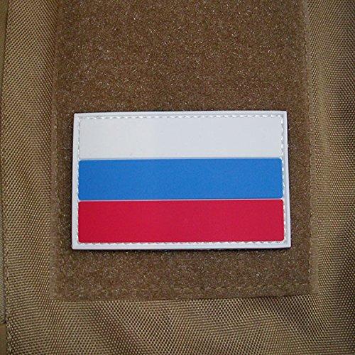 3-D Rubber Patch - Russia Fahne Abzeichen Aufnäher Airsoft Russische Föderation Tactical Russische Armee Russe Einsatz Uniform 5x8cm #17046