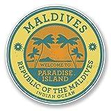 2 x 10cm/100 mm Maldivas Etiqueta autoadhesiva de vinilo adhesivo portátil de viaje equipaje signo...