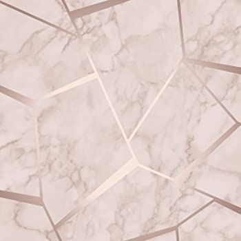 Fine Decor Fd41993 Uk Apex Geo Sidewall Wallpaper Rose Gold Amazon
