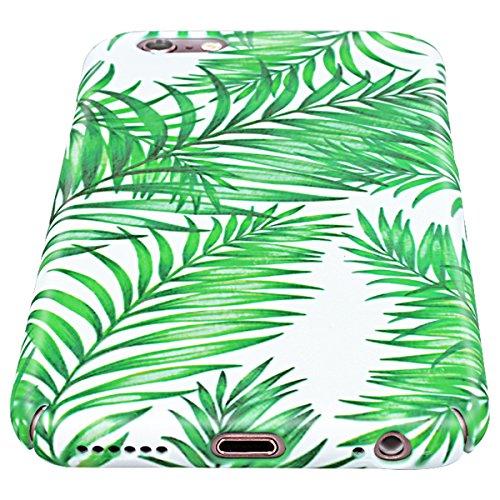 Yokata Coque iPhone 6S, iPhone 6 (4.7 pouces) Housse Étui Rigide Motif Feuilles de Banane Vert Bumper PC Dur Etui iPhone 6S / 6 Hard Case Ultra Fine Mince Cover Antichoc Housse de Protection - B B