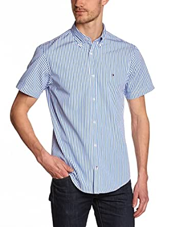 Tommy hilfiger - north stp - chemise business - coupe droite - homme - bleu (shirt blue/classic white) - Large