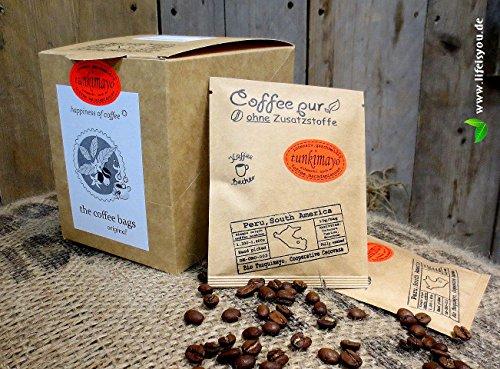 Life is You! - Bio-Hochlandkaffee aus Peru, EINZELN VERPACKT, handverlesen gepflückt, in Coffee Bags - für Becher - 15x10 GR, handgebrühter Bio-Kaffee, DE-ÖKO-003