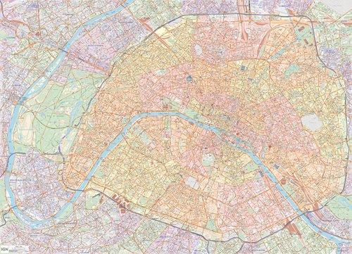 70041 POSTER PARIS PLASTIFIE  1/12.000M