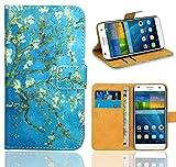 Huawei Ascend G7 Custodia Cover Case, FoneExpert Flip Cover Case Custodia Pelle accessori Protective Cover per Huawei Ascend G7 (Pattern 8)