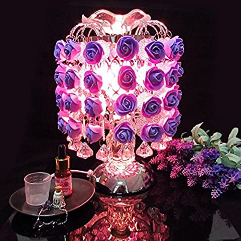 11.1 Pulgadas De Rosas Fragantes, Sensores, Tacto, Lámparas Del Aroma, Regalos De Boda, Lámparas Decorativas, Rosa / Púrpura / Azul De Cielo,B