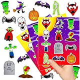 German Trendseller - 144 x Halloween Sticker - Set Mix ┃ Kleine Monster ┃ Mitgebsel ┃ Halloween Party ┃ 12 Bögen